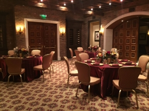 wine room bordeaux gold and burgundy hotel chairs